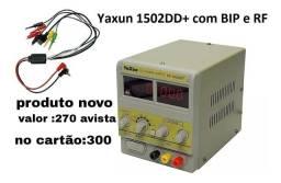 Fonte de bancada yaxum 1502DD+ produto novo