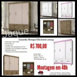 Guarda Roupa Eficiente 20033/ Montagem em 48h.
