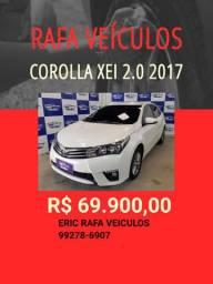 Rafa Veiculos Belém Corolla XEI 2.0 2017 c/ R$ 1.000,00 de entrada - Erick eek