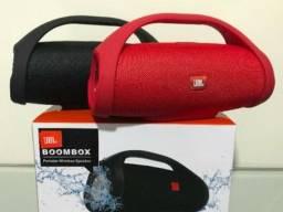 Caixa de som bluetooth boombox média nova na caixa