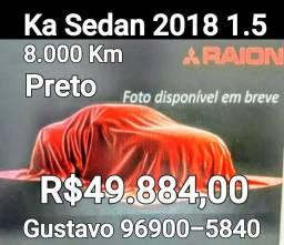 Ka Sedan 1.5 Preto  8 mil Km Garantia de fábrica