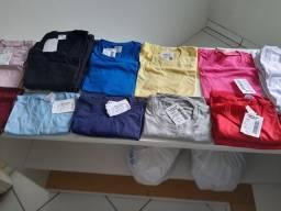 Camisas para sublimação ou artesanato em geral.