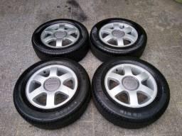 """Rodas Audi A3 aro 15"""" 5x100 com pneus"""