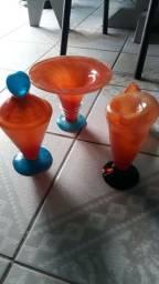 Jogo de peças de vidro