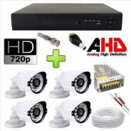 Kit 4 cameras AHD 2.0pix + instalação ( R$ 1.099,00 )