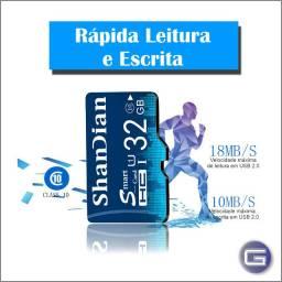 Cartão de memória 32GB Micro SD (Classe 10) + Adaptador SD