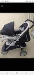 Carrinho Galzerano 3 rodas + bebe conforto e base