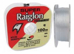 Linha Mono Raiglon 0,285mm 17lbs/8kg Branca - 100 Metros