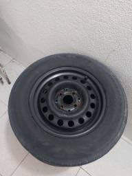 4 rodas de ferro 14 com pneus