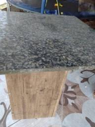 Mesa e vidro para prateleira pia inox
