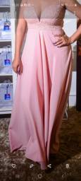 Vestido Rosê de festas