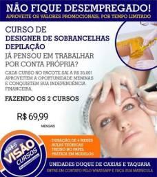 Curso de Design de sobrancelhas com depilação