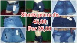 Shortinho jeans 35,00 cada