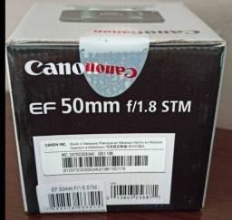 Lente Canon 50mm 1.8 Stm lacrada na caixa, Parcelo sem juros.