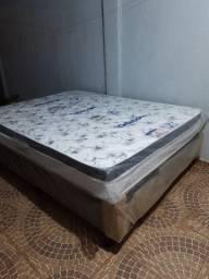 Cama box Base+Colchão Ortobom