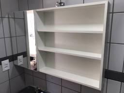 Armário para banheiro e móvel multiuso, todos em MDF