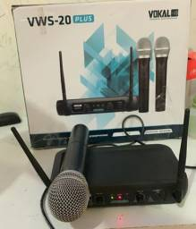 Caixa de SOM + Microfone profissional sem fio.