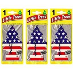 Aromatizante Para Carro Little Trees Vanilla Eua Kit C/ 3
