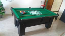 Mesa Charme Semi Oficial Cor Preta Tecido Verde Logo Palmeiras Mod. BLFO982