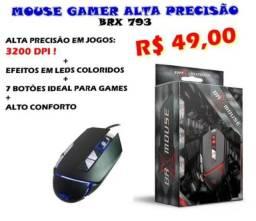 MOUSE GAMER ALTA RESOLUÇÃO 3.200 DPI COM LEDS COM ENTREGA ACEITO CARTÕES