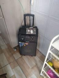 caixa de som acústica com microfone MONDIAL