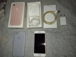IPhone 7 Rosé completo na caixa