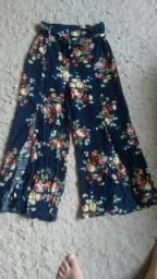 Calça Pantalona(Vai até o Tornozelo)