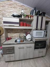 Cozinha compacta + balcão cooktop