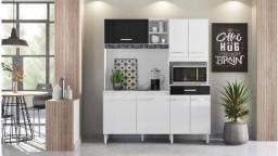 Cozinha Yara Nicioli 7 Portas e 1 Gaveta, com espaço para Microondas - Entrega Imediata!