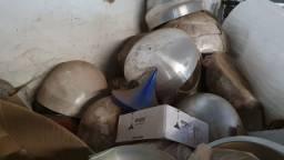 Queima de estoque! Vendem-se vários repuxos de alumínio para confecção de luminárias