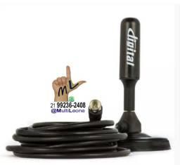 Antena HD de TV Digital Interna/Externa 3.5 DBI com imagem de alta qualidade Cabo 3mts