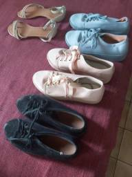 Sapato melisa, vizzano e uma sandália.