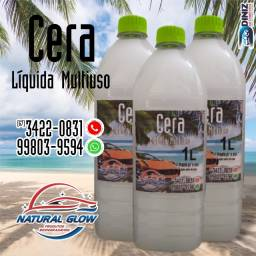 Cera liquida automotiva multiuso natural glow automotivo carro