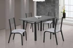 Mesa 4 cadeiras de granito nova
