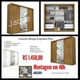 Guarda Roupa Espanha Plus/ Montagem Grátis.