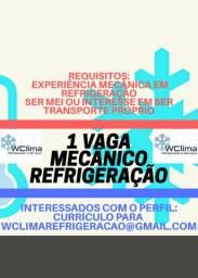 1 vaga Mecânico Refrigeração (WClima)