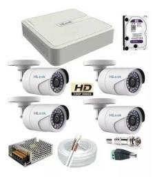 Promoção em Câmeras de Segurança:kit completo instalado!10x sem juros no cartão