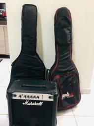 Guitarra, violão e amplificador