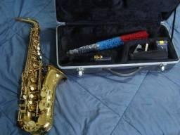 Saxofone Waldman zerado com Hard Case