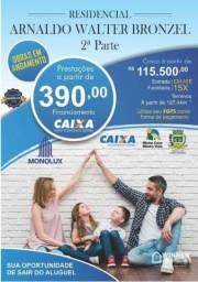 Casa com 2 dormitórios à venda, 45 m² e 53,36 metros apartir R$ 115.500 - Jardim Conrado -