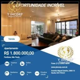 Apartamento para Venda em São Paulo, Perdizes, 4 dormitórios, 2 suítes, 3 banheiros, 3 vag