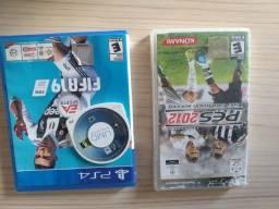 Jogo PSP e jogo play 4 FIFA