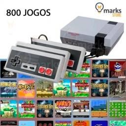 Vídeo Game Portátil Clássico 8 Bits 800 Jogos na Memória e 2 Controles Lançamento
