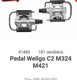 Pedal wellgo c2, com taco