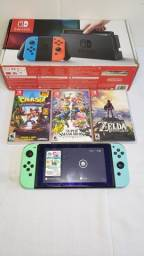 Nintendo switch +3 jogos fisico