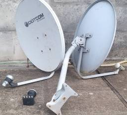 2 antenas ku + lnb quadruplo tudo por 50, não reservo