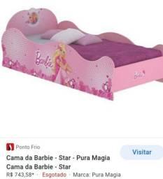 Vendo Cama infantil BARBIE DA PURA MAGIA nova na caixa.100%MDF