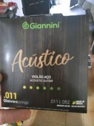 Encordoamento Giannini Violão Aço 011