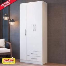 Título do anúncio: Guarda-Roupa Doripel Treviso 103 3 portas 2 gavetas (Branco).