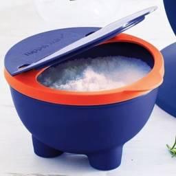 Título do anúncio: Saleiro Tupperware azul e laranja